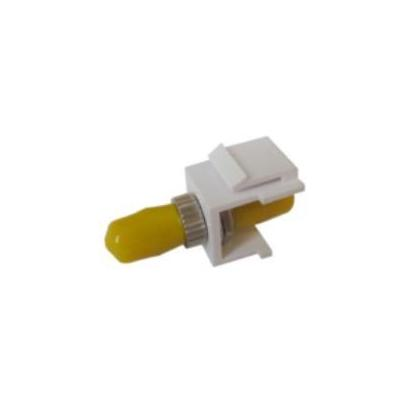 Microconnect fiber optic adapter: Snap-in Fiber Keystone w/ ST single mode simplex adapter