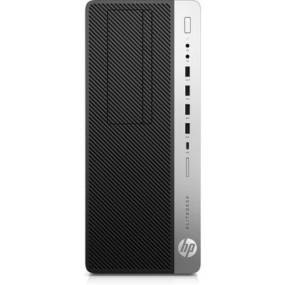 HP EliteDesk 800 G4 Pc - Zwart, Zilver - Renew