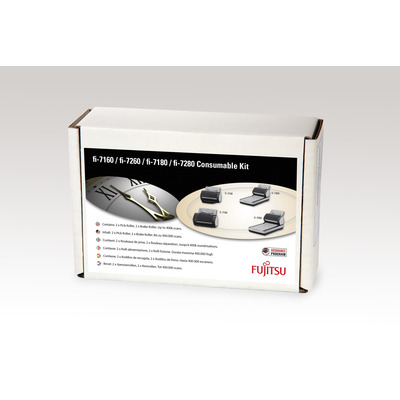 Fujitsu printing equipment spare part: Sets met verbruiksartikelen voor fi-7140, fi-7240, fi-7160, fi-7260, fi-7180, .....