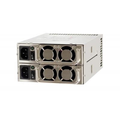 Chieftec 2 x 500W, 100V~240V, 47-63 Hz, ATX 12V 2.3, PS II, Active PFC (0.9) Power supply unit - Zilver