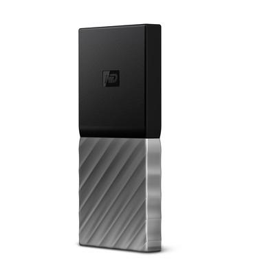 Western digital : My Passport 2.5 Inch externe SDD 512GB Zilver - Zwart, Zilver