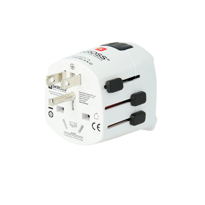 Skross Pro Light Stekker-adapter - Zwart, Wit