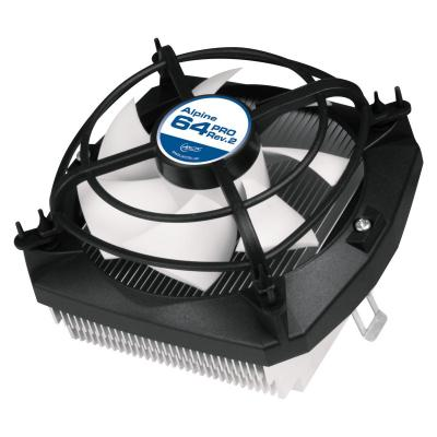 Arctic Hardware koeling: Alpine 64 Pro - AMD CPU Cooler with Vibration Absorption - Zwart, Wit