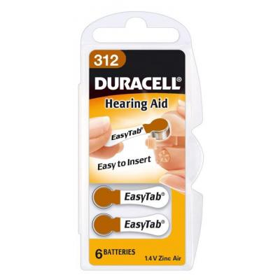 Duracell batterij: Hearing Aid DA312