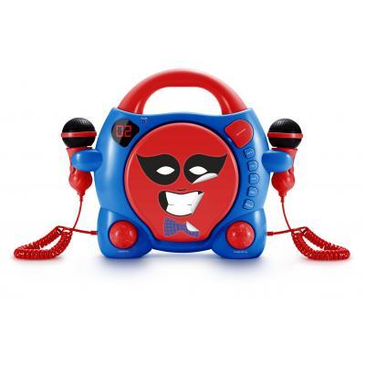 Bigben interactive CD speler: Big Ben, Portable CD Player met 2 Microphones - My Billy (Rood / Blauw)