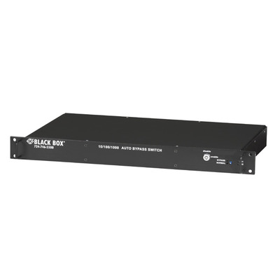 Black Box 7xRJ-45, 1xRS-232, 100-240V, 50/60Hz, 45x483x267mm, 2.3kg Switch - Zwart