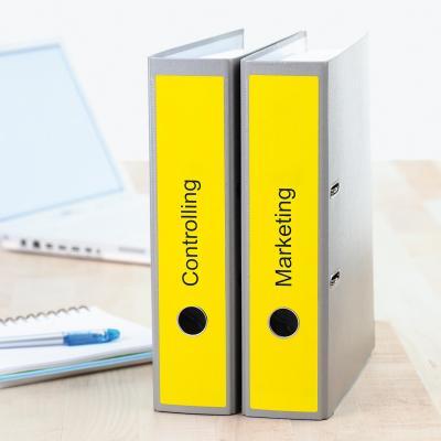 Herma etiket: File labels A4 61x297 mm yellow paper matt opaque 60 pcs. - Geel