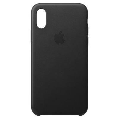 Apple Leren hoesje voor iPhone XS - Zwart mobile phone case