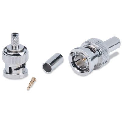 Extron Mini 59 Crimp BNC Male Connector Kabel connector - Zilver