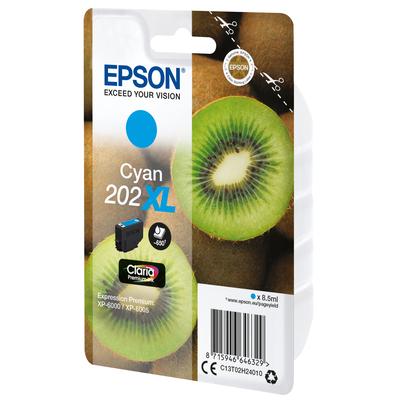 Epson Kiwi Singlepack Cyan 202XL Claria Premium Ink Inktcartridge - Cyaan