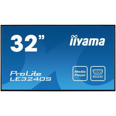 Iiyama 32'', 16:9, 1920 x 1080, 1400:1, 350 cd/m², 6.5ms, 726.5 x 425.4 x 65.1mm, 5.7kg Public display - Zwart