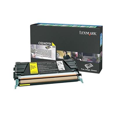 Lexmark C524/C532/C534 5K gele retourpr. tnrc. Toner - Cyaan, Geel