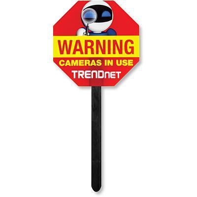 Trendnet waarschuwingsbord: Video Surveillance Yard Sign - Rood