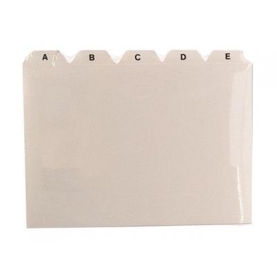 Staples indexkaart: Alfabet kaartenbak SPLS A6 a/z /set 25