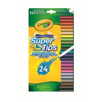 Crayola verf stift: 24 Viltstiften met superpunt - Veelkleurig
