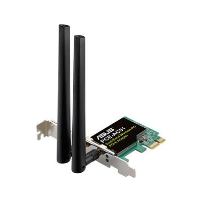 Asus netwerkkaart: Wireless-AC750 Dual-band PCI-E Adapter