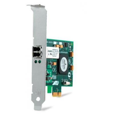 Allied Telesis PCI-E, SC, 1000 Mbit/s, 1.7W, Metallic/Green Netwerkkaart - Groen, Metallic