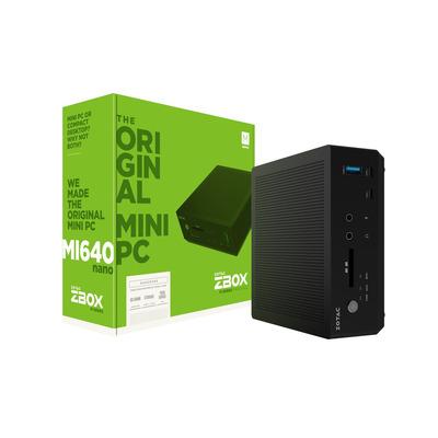 Zotac ZBOX MI640 nano Barebone - Zwart