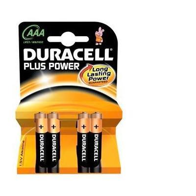 Duracell batterij: MN2400 - 4x AAA, 1.5V, Alkaline - Zwart, Koper