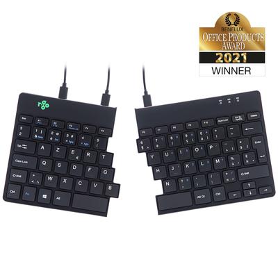 R-Go Tools R-Go Split Break Ergonomisch,  (BE), zwart, bedraad - AZERTY Toetsenbord