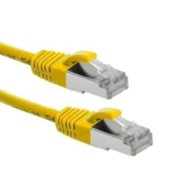 EECONN Cat.6 S/FTP Patchkabel, AWG26, PVC, Geel, 0.5m Netwerkkabel