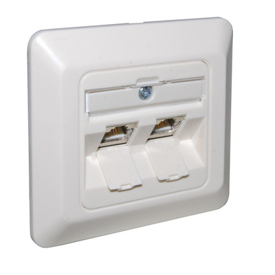 EFB Elektronik Frame Set 2-fold, for keystones, RAL9010 - Wit