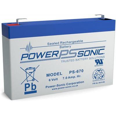 Power-Sonic PS-670 UPS batterij - Blauw, Grijs