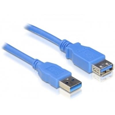 DeLOCK USB 3.0-A M/F - 1m USB kabel - Blauw
