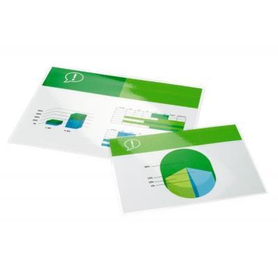 Gbc laminatorhoes: Document Lamineerhoezen A2 2x125 micron Glanzend (100) - Transparant