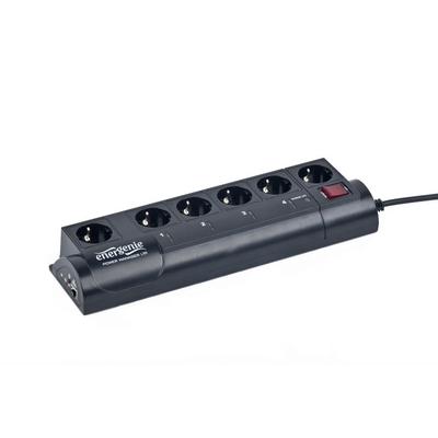 Gembird 375 Joule, 250 VAC, 50 - 60 Hz, 10А Surge protector - Zwart