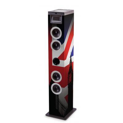 Bigben interactive home stereo set: vloerstaande luidspreker met Britse vlag - Multi kleuren