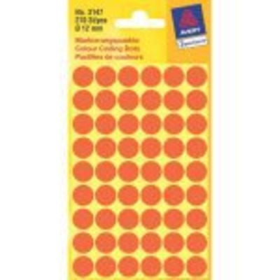 Avery Round Labels, Light Red Ø 12 Etiket