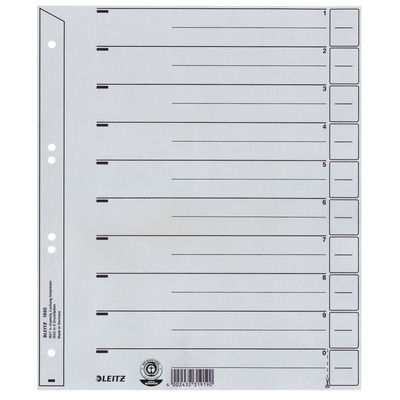 Leitz A4, 240 x 1 x 300 mm, 200 g/m² Indextab - Grijs