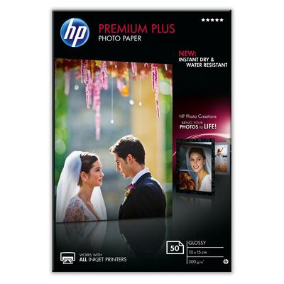 HP Premium Plus glanzend, 50 vel, 10 x 15 cm Fotopapier