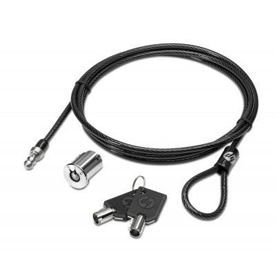 Hp kabelslot: kabelslot voor dockingstation - Zwart, Metallic