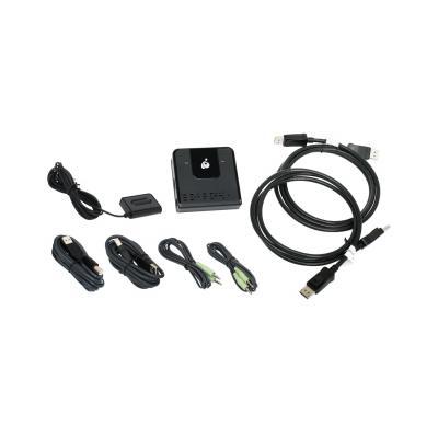 Iogear 2-Port DisplayPort KVM KVM switch - Zwart