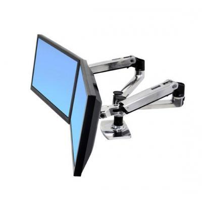 Ergotron monitorarm: LX Series Dual Side-by-Side Arm - Zilver