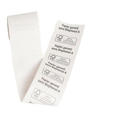 Exacompta papier: P10 RUGETIK 4CM 190X30MM WIT