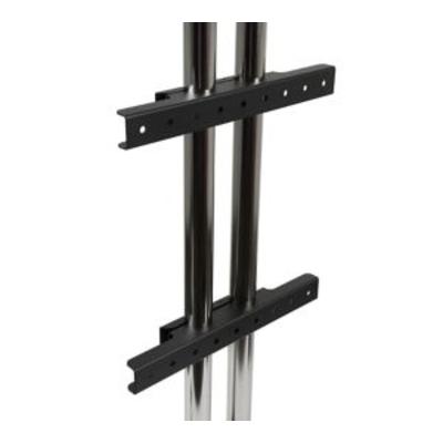 Peerless Modular Dual Pole Fixed Display Mount / Wall Mount Interface Montagekit - Zwart