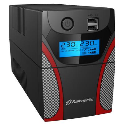 PowerWalker VI 650 GX UPS - Zwart,Grijs,Rood
