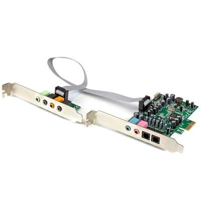 StarTech.com 7.1 PCI Express surround 7.1 kanaals PCIe sound card 24 bit 192 kHz SPDIF Digital Optical en .....