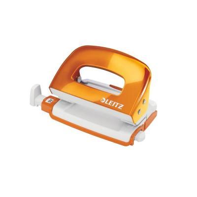 Leitz NeXXt Series WOW Metal Mini Hole Punch Perferator - Metallic, Oranje, Wit