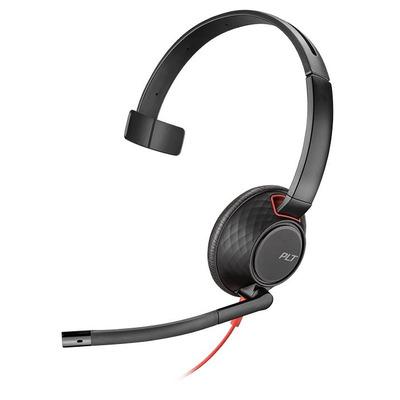POLY Blackwire 5210 Headset - Zwart, Rood