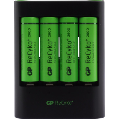 GP Batteries U421 Oplader - Zwart