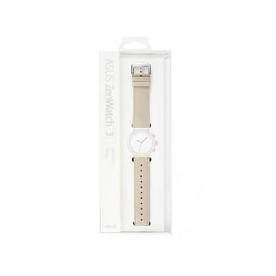 Asus horloge-band: ZenWatch 3 strap (WI503Q) Leather Beige