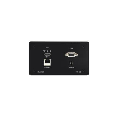 Kramer Electronics HDMI, VGA, LAN, Audio-in, RS–232, 4K@60Hz, 0.3 kg Inbouweenheid - Zwart