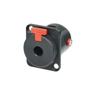 "Neutrik Locking 1/4"" phone jack, D-size shell kabel connector - Zwart"