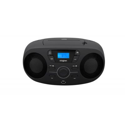 Bigben interactive CD speler: FM, USB, MP3, 3.5mm AUX-IN, 6 x LR14 - Zwart