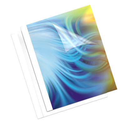 Fellowes 3mm Coverlight thermische bindkaft - wit Binding cover