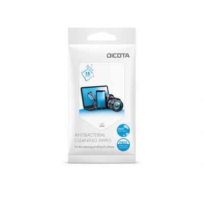 Dicota Antibacterial Surface Cleaning Wipes Pack 15 pieces Schoonmaakdoek - Wit